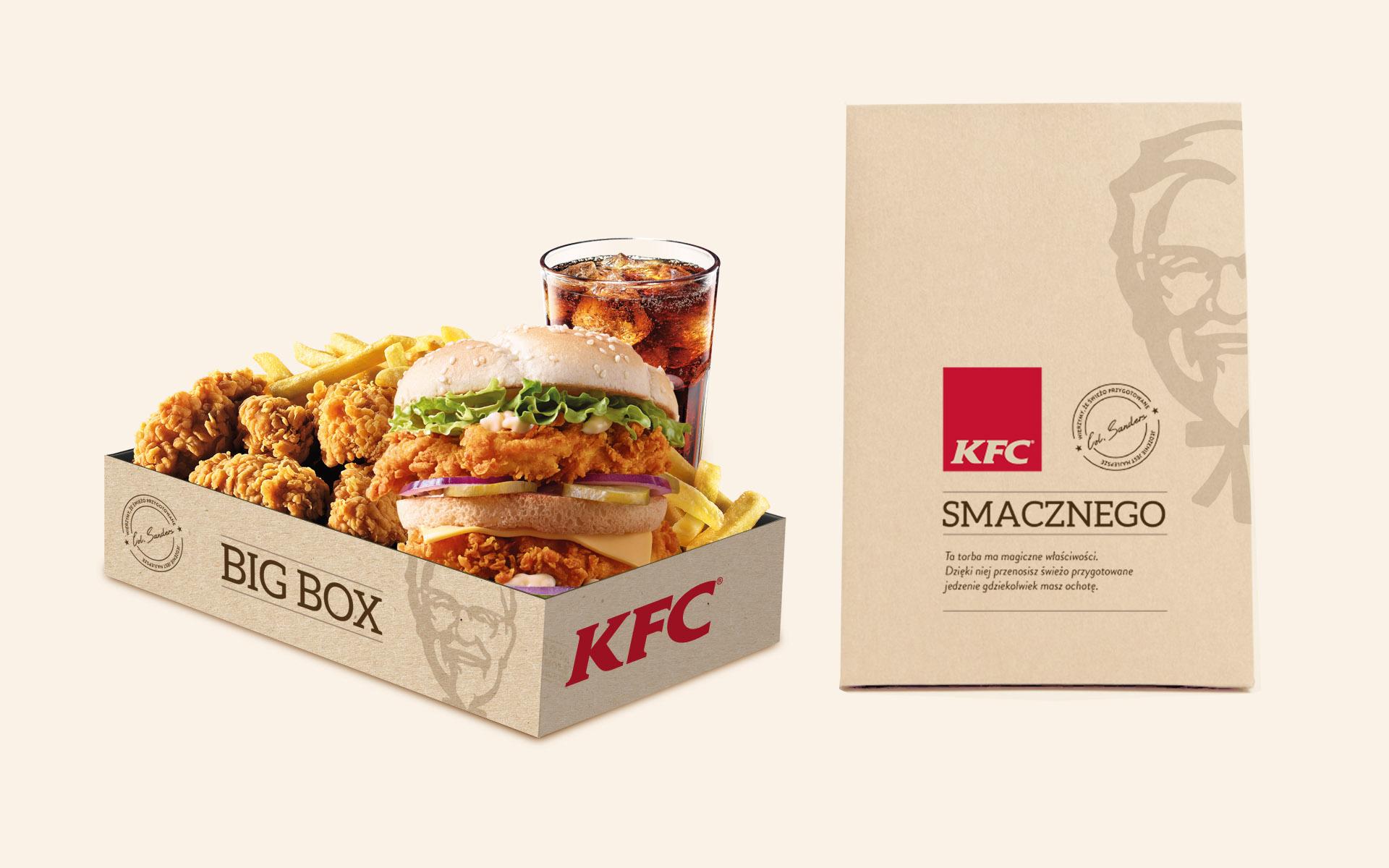 KFC opakowania